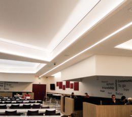 Odisee Gent renovatie studentenlounge en ventilatie sporthal